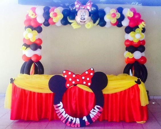 Decoracion Minnie Roja ~ Arco de la minnie roja Por Balloon Decoraci?n