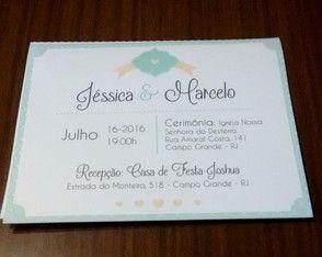 Convite de Casamento Azulejos