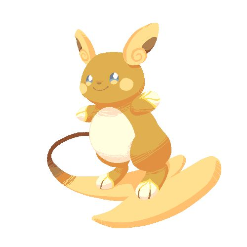 After 20 years, Raichu finally got some attention for its air surfing skills /w\