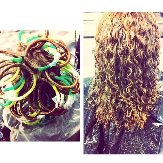 Tight Spiral Perm On Loop Rods Hair