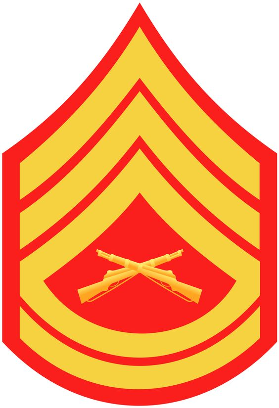 this is the insignia in which a sergeant is awarded and allowed to wear on their uniform in the marine corp, this insignia shows that the difference between a non commissioned officer and a sergeant is that a sergeant is in daily contact with a greater number of marines on a day to day basis