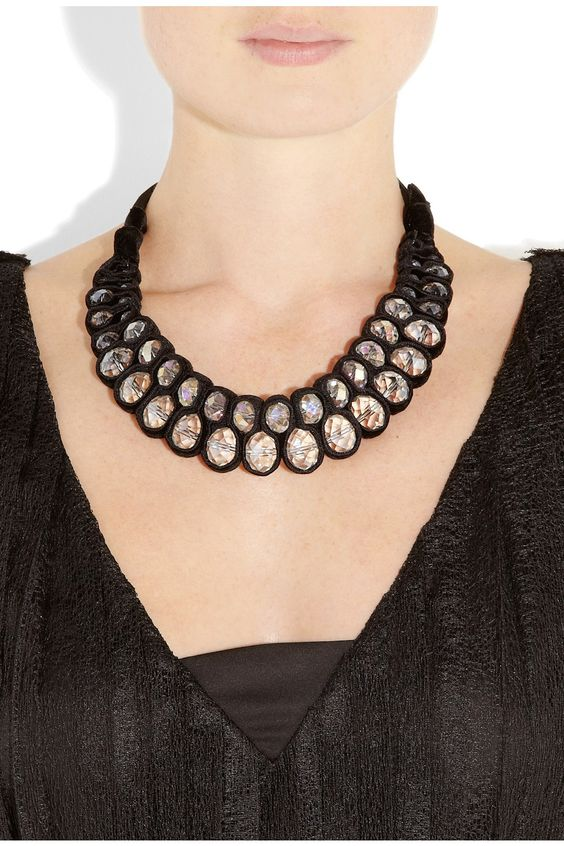 DAY Birger et Mikkelsen | Velvet and crystal necklace | NET-A-PORTER.COM