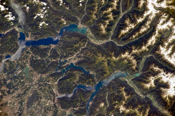 Italian lakes, from #ISS, exp40, July 3, 185-mm