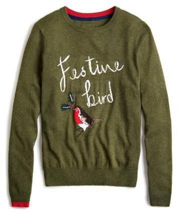 Pin for Later: Deck Yourself With Boughs of Holly For Christmas Jumper Season Joules Festive Women's Christmas Intarsia Jumper Joules Festive Women's Christmas Intarsia Jumper (£50)