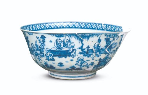Blue and white 'boys' bowl, mark and period of Chenghua After: The Emperor's Broken china. Reconstructing Chenghua Porcelain, Sotheby's London, 1995, cat. no. 54