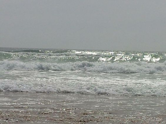 Waves at Freshwater East beach, Pembrokeshire
