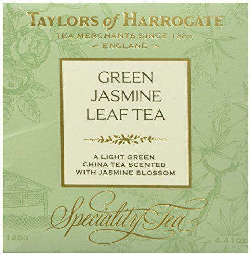 Taylors of Harrogate Green Jasmine Leaf Tea, Loose Leaf, 4.41 Ounce Box - http://teacoffeestore.com/taylors-of-harrogate-green-jasmine-leaf-tea-loose-leaf-4-41-ounce-box/