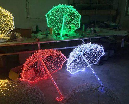 Christmas Decorative Outdoor Led Umbrella Lights In 2020 Umbrella Lights Umbrella Decor