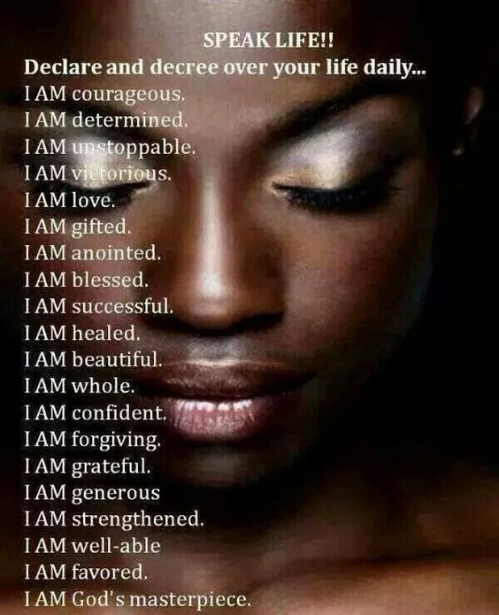 Speak Life, I Am And Affirmations On Pinterest