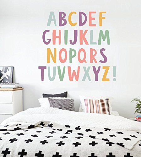 Alphabet Boys Nursery ABCs Wall Decals Learning Set Letters Set Children Safe Vinyl Kids Wall Decal Nursery Wall Decal Wall Decals Nursery. 26 pieces for this alphabet in a wall vinyl material. Make learning the ABCs super fun with our Alphabet Wall Decals! RockyMountainDecals are made to order, printed in both Eco-friendly and kids friendly products. The colors are brilliant and the graphics will look like painted on your child's bedroom wall, classroom or library! Size options…