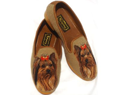 Yorkie Needlepoint Shoes