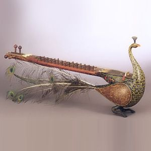 Extinct Indian Musical Instruments - Mayuri. This peacock shaped stringed instrument was very popular in nineteenth century.: