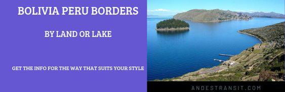 Bolivia Peru Borders by Land or Lake
