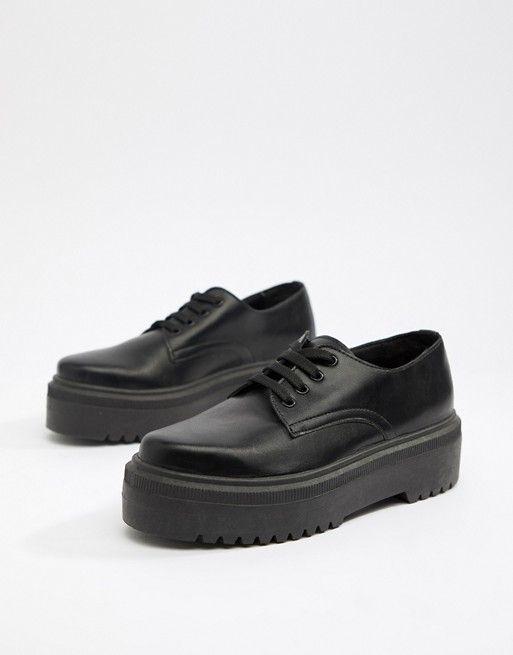 ASOS DESIGN Menace chunky flat shoes