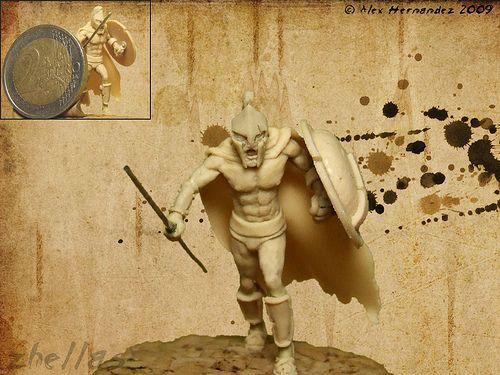 Miniatura Guerrero Espartano (III)   by Zhellas - Alex-Amazing....! Look at the dimensions of this miniature..!!