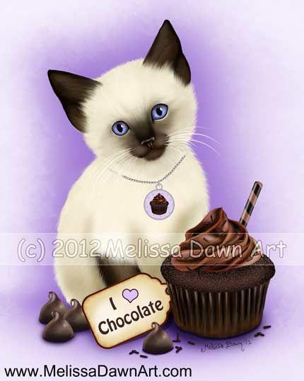 Chocolate Cupcake Kitten Melissa Dawn