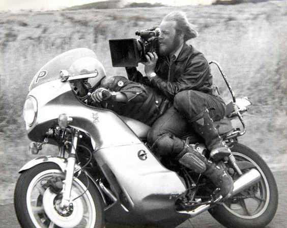Cinematographer David Eggby filming Mad Max