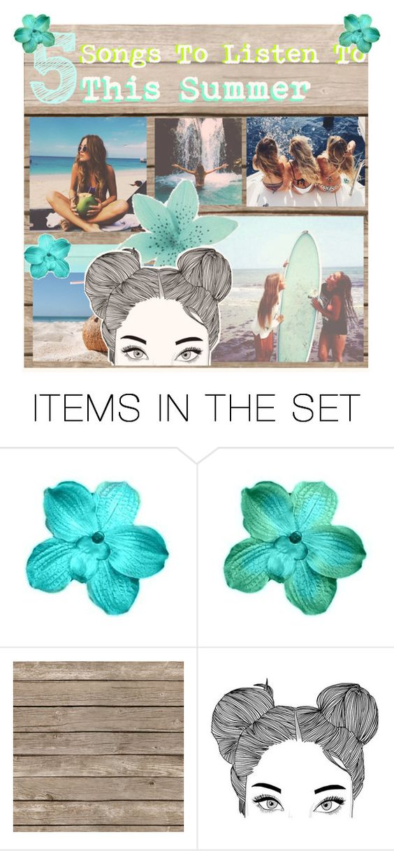 """""""5 Songs To Listen To This Summer"""" by live-laugh-love-icons ❤ liked on Polyvore featuring art and DanielasWeeklyTips"""