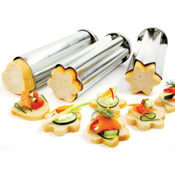Canape bread molds kitchen essentials pinterest for Canape kitchen