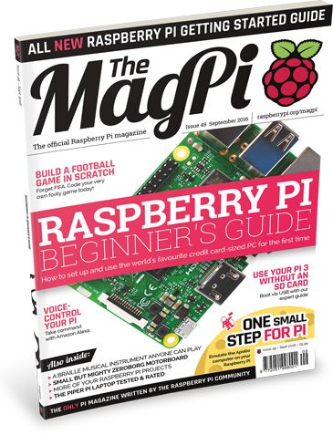 Get started with Raspberry Pi with The MagPi 49! We've packed this issue with tips and tutorials for Raspberry Pi newbies.