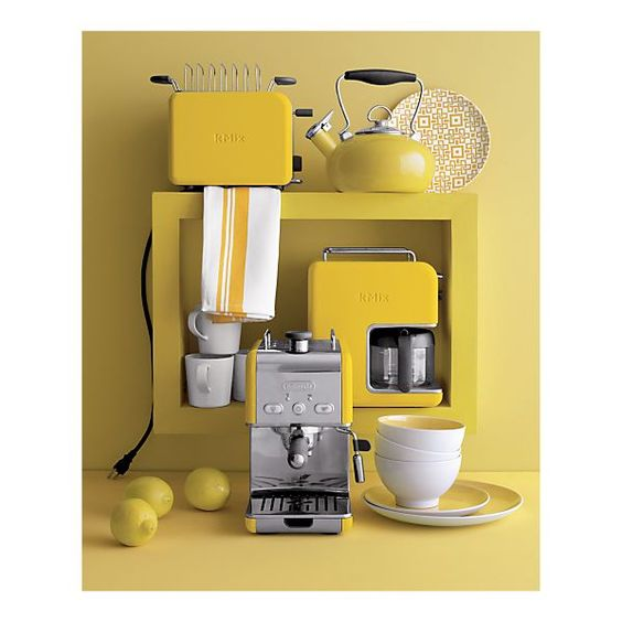 Yellow in the kitchen. Why not?
