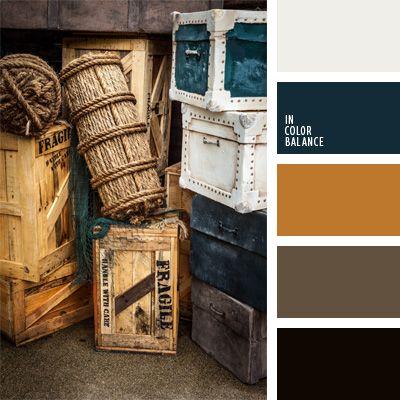 azul oscuro, blanco y azul oscuro, color cuero rojizo, color madera negra, color turquesa, colores azul oscuro y negro, colores de la temática marítima, marrón, marrón y negro, matices de color madera negra, negro, paleta de colores marinos, turquesa, verde azulado.