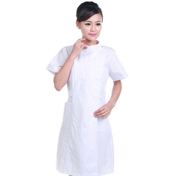 Summer White Nurse Uniform Hospital Lab Coat Korea Style Women ...