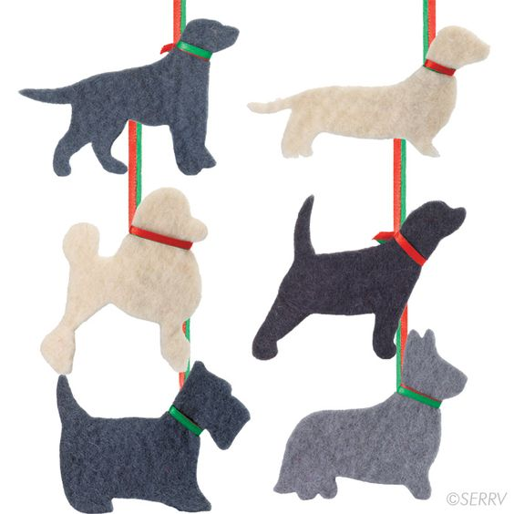 Dog Silhouette Ornaments from Nepal $18