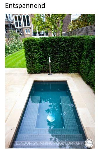 Mini-Pool -)) u2026 Pinteresu2026 - gartengestaltung reihenhaus pool