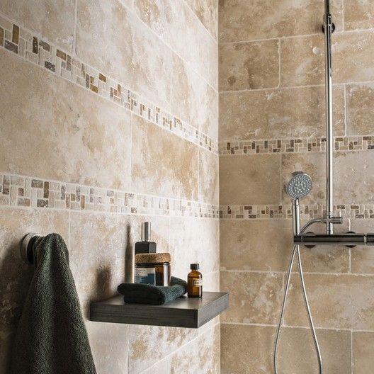 19+ Travertin mural salle de bain trends