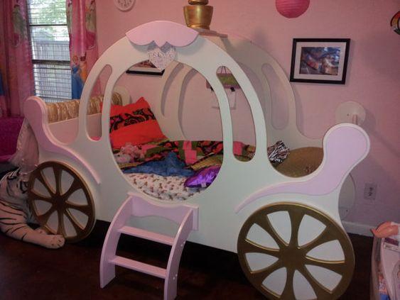 Kinderbett Prinzessin Kutsche von StollFurnitureDesign auf Etsy