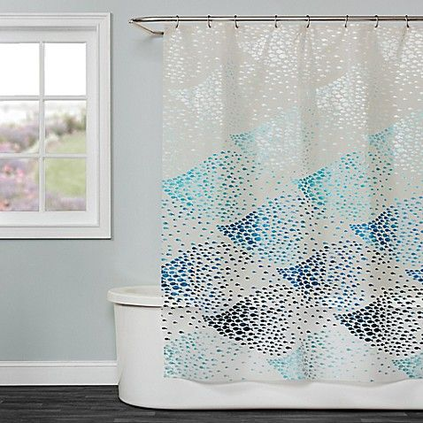Saturday Knight School Of Fish Shower Curtain In Blue Blue