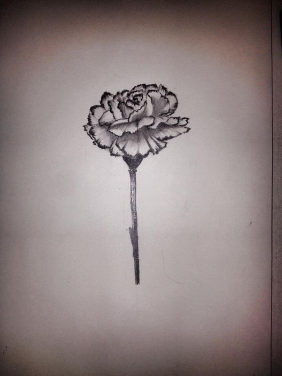 Carnation tattoo idea -birth month
