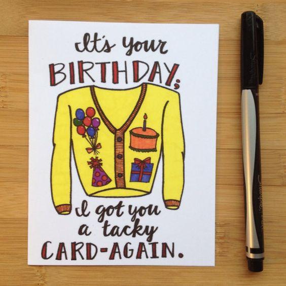 Birthday Card Tacky Card – Tacky Birthday Cards