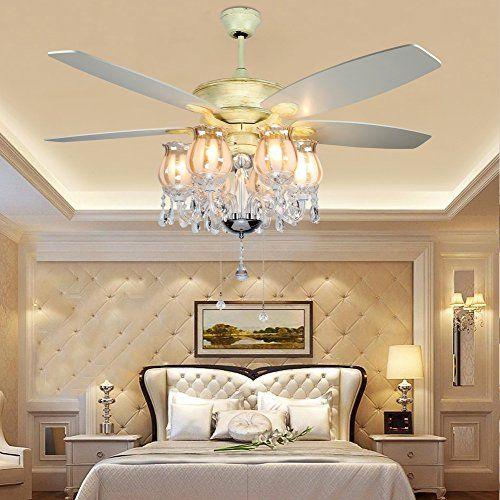Akronfire Crystal Ceiling Fan With 5 Reversible Acrylic B Https Www Amazon Com Dp B07d13vjy8 Ref C Living Room Fans Ceiling Lights Living Room Ceiling Fan