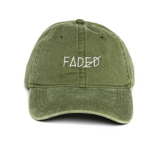 Faded Strapback (£26) ❤ liked on Polyvore featuring accessories, hats, headwear, cap, cap hats, six panel hat, sun visor, 6 panel cap and cotton cap