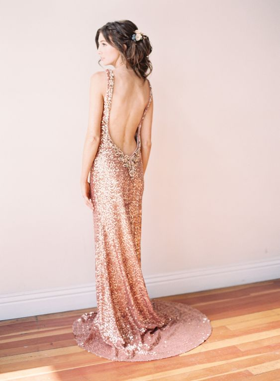 Touch of Glam Rose Gold Wedding Inspiration: http://www.stylemepretty.com/2015/10/08/touch-of-glam-rose-gold-wedding-inspiration/ | Photography: Sposto Photography: http://spostophotography.com/