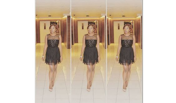 Check out Annie Idibia's glamorous second outfit to 2Face's fortyfied after party (See Photos)