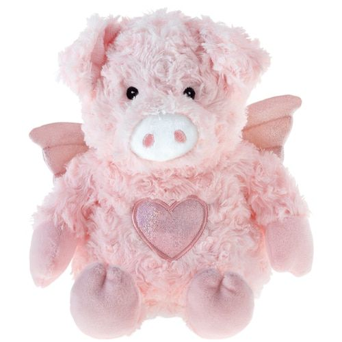 Aroma Home Flying Pig Cozy Hottie Microwavable Toy Flying Pig