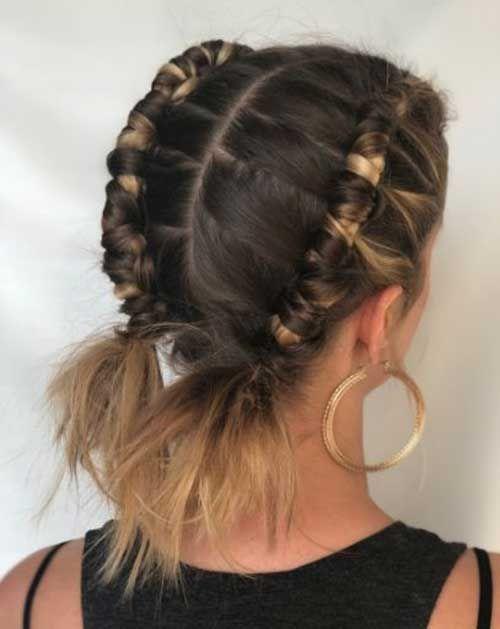 Cute Two Braids For Short Hair Tresses Pour Cheveux Courts Cheveux Courts Cheveux Corail