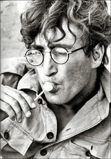 """""""Want to know when John Lennon started wearing those trademark round-rimmed glasses? Well, it all began with the character he played in the 1967 black comedy film How I Won the War, directed by Richard Lester. After the movie, he wore that style of spectacles for the rest of his life."""" (Per Cynthia Lennon's 2005 book John, p. 191.)"""