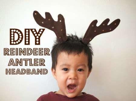 Diy reindeer antler headband horns crafts and reindeer for Reindeer antlers headband craft