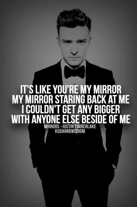 Justin timberlake mirrors i can 39 t stop listening to for Mirror mirror lyrics