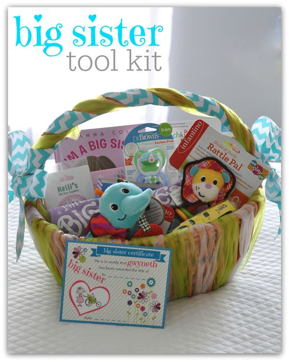 In about a week our little girl is going to officially be a big sister! We thought we'd start things off right by giving her this Big Sister Tool Kit.