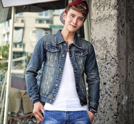 $56.26 -- Mens Denim Jacket Retro Hot Selling Men Jackets Fitted ...