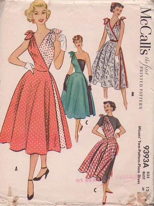 Mccall S 9393 Vintage 50 S Sewing Pattern The Most