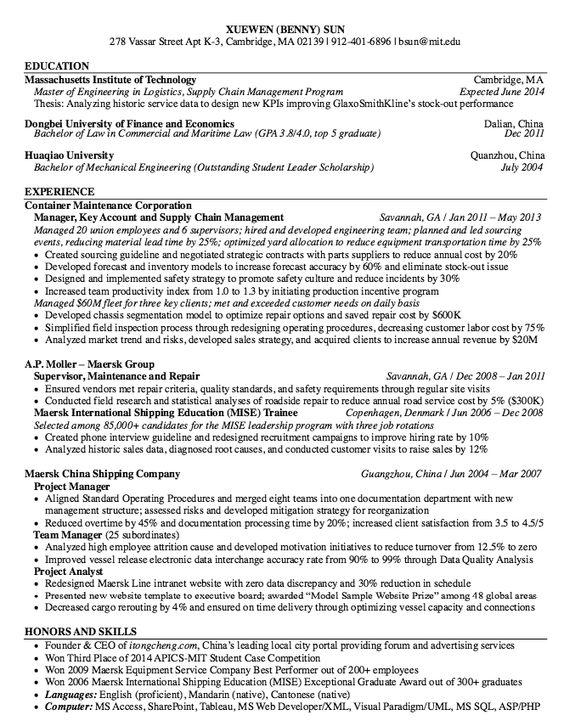 Maersk International Resume Sample - http\/\/resumesdesign - quality inspector resume