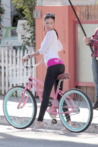 https://www.facebook.com/MakeItBurnNow Adriana Lima makes you want to be a bicycle seat