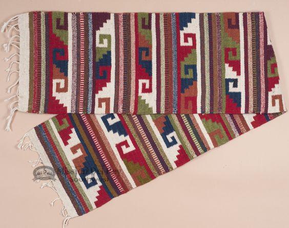 Southwestern Zapotec Wool Table Runner
