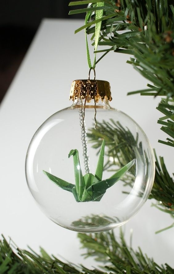 Olha que ideia fofa para inovar na decoração da árvore de natal! #decor #natal #christmas #tsuru